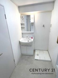 住宅部分の洗面所