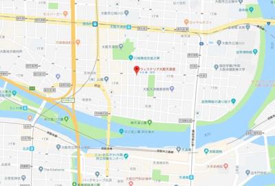 【地図】ウィステリア大阪天満宮