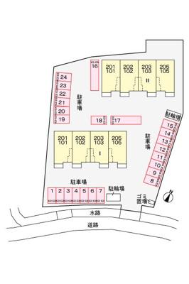 【区画図】メゾン ド ハール Ⅱ