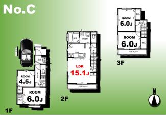 【間取り】足立区一ツ家3丁目新築戸建て【全10棟】