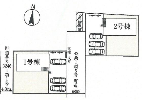1号棟 カースペース3台以上可能です。