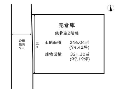 【区画図】たつの市龍野町北龍野/売倉庫