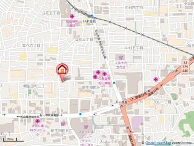 【地図】ハイツ南松山