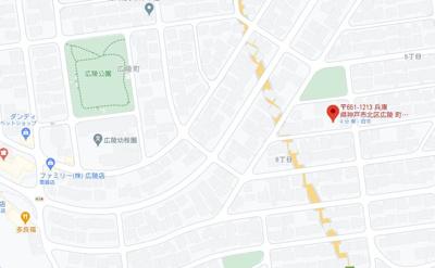 【地図】広陵町6丁目土地