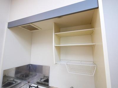 収納スペースがあるキッチンです