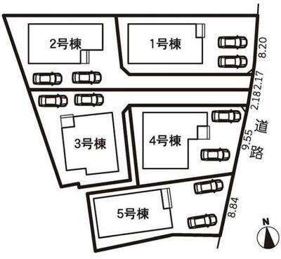 【区画図】田方郡函南町間宮 20-1期 新築一戸建て 5号棟 ID