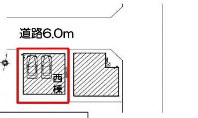 【区画図】静岡市葵区新富町2丁目 2期 新築一戸建て 西棟 FF