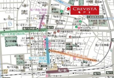 【地図】クレヴィスタ亀戸Ⅱ