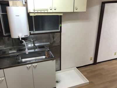 安心な室内洗濯機置き場