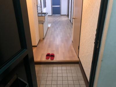 玄関です。下駄箱もついてますよ!