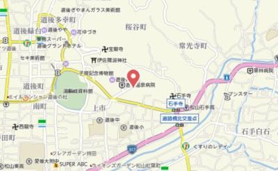 【地図】ライオンズマンション道後姫塚第2