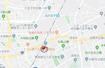 【地図】レオパレス大和田(36733-301)