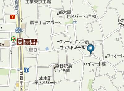【地図】CRASTINE高野(クラスティーネコウヤ)