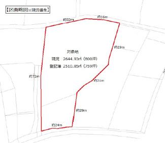 【区画図】高崎市吉井町多比良 売地