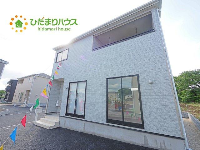 【前面道路含む現地写真】土浦市高岡第2 新築戸建 3号棟