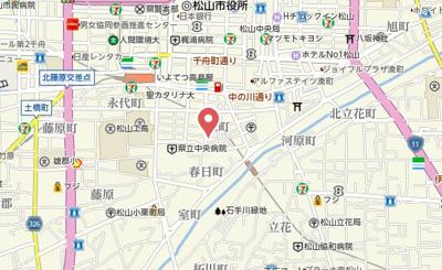 【地図】クレメント泉