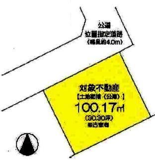 【土地図】川越市下赤坂 建築条件なし売地 「上福岡駅」バス15分 敷地30坪