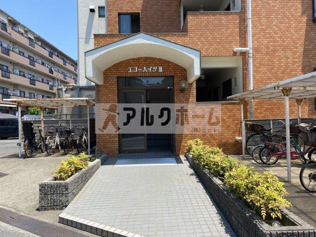 エコーハイツ2(柏原市平野) 自転車置き場