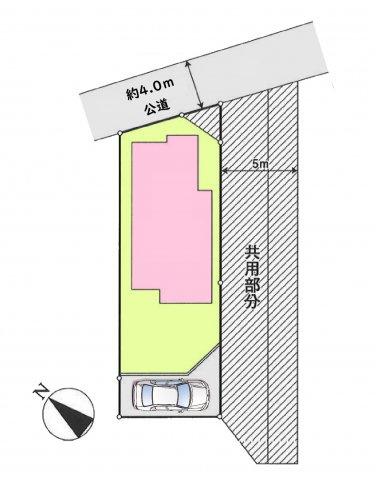 【区画図】昭島市緑町2丁目 中古戸建