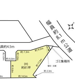 【土地図】鴻巣市箕田の売地 H区画