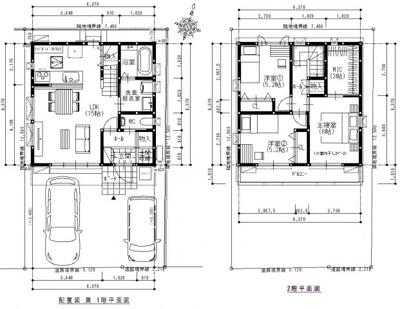 建築プラン例建物価格1,530万円