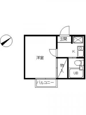 【居間・リビング】スカイピア綱島B
