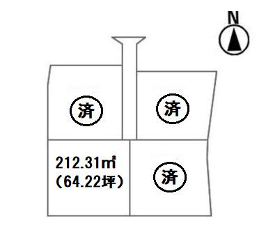 【区画図】前橋市稲荷新田町売地