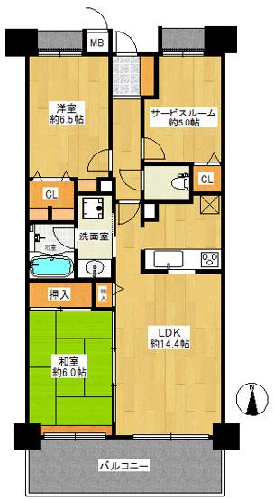 3階部分のお部屋です。