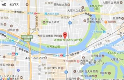【地図】天満リバーサイドプラザ