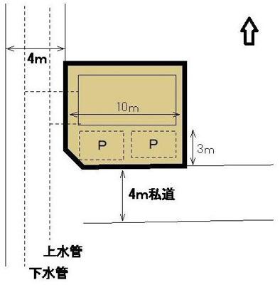 【区画図】東区天王町 中古住宅 KA