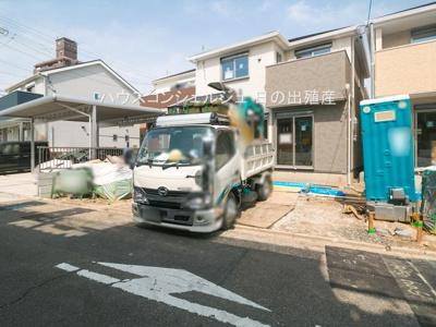 【前面道路含む現地写真】名古屋市港区本宮町8丁目3【仲介手数料無料】|新築一戸建て