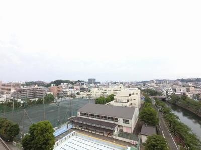 8階部分からの眺望です。 前面に建物がなく開放感◎