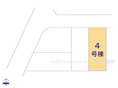 【区画図】名古屋市西区上堀越町4丁目28【仲介手数料無料】新築一戸建て
