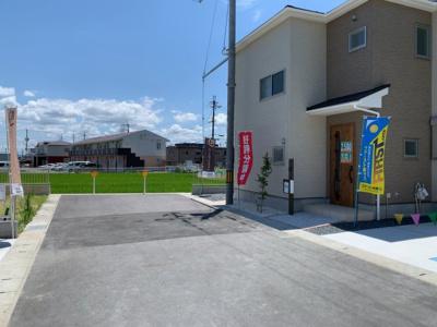 【前面道路含む現地写真】大津市下阪本1丁目3 新築分譲
