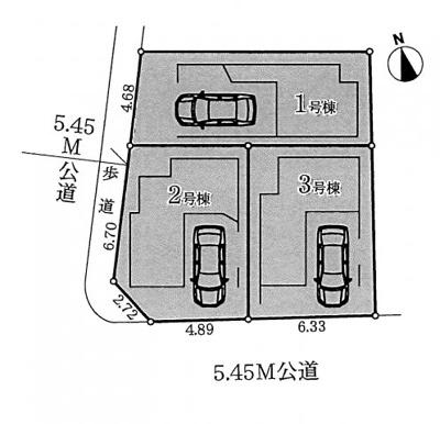 【区画図】名古屋市千種区春里町4丁目1−16 【仲介手数料無料】新築一戸建て 1号棟