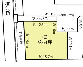 【土地図】鴻巣市箕田の売地 E区画
