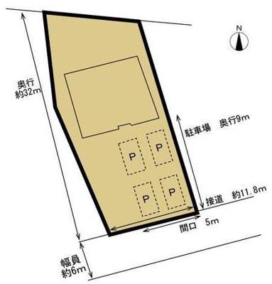 【区画図】西区雄踏町宇布見 中古住宅 KA