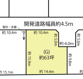 【土地図】鴻巣市箕田の売地 G区画