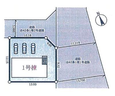 【区画図】上滝野新築一戸建
