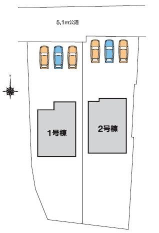 【区画図】高崎市宿大類町 1号棟