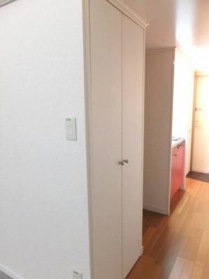 廊下のクローゼットの内側には姿見が付いています!