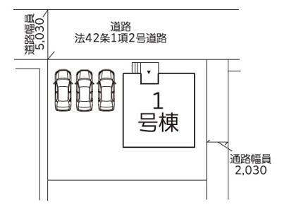 【区画図】南友田建売オール電化住宅
