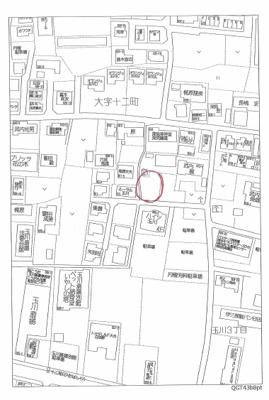 【地図】十二町 分譲宅地