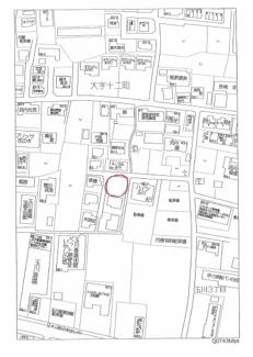 【地図】十二町 分譲地