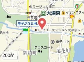 【地図】レオパレスコンフォート大津京