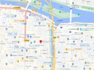 【地図】ミコノス北浜