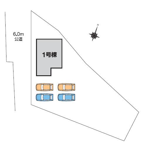 【区画図】高崎市中里町 1号棟