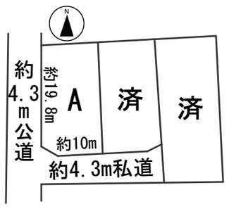 【区画図】55672 羽島郡岐南町若宮地分譲地