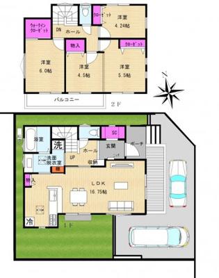 【区画図】【売主/新築】MLH TSUJIDO 大庭5号棟(仲介手数料不要)