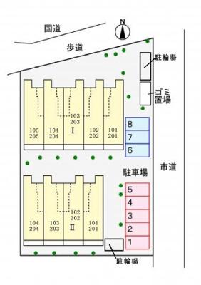 【区画図】メゾン ド コッティⅠ